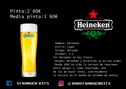 heineken carta digital