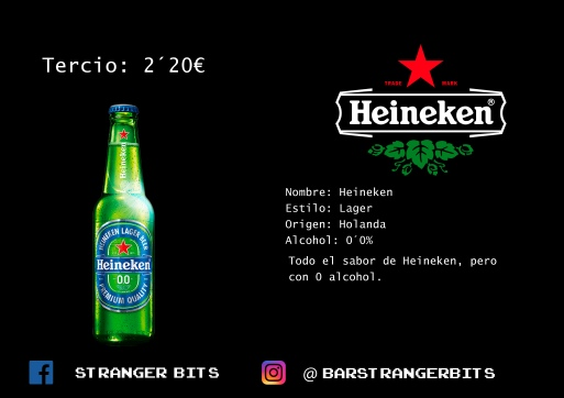 tercio heineken 0 carta digital